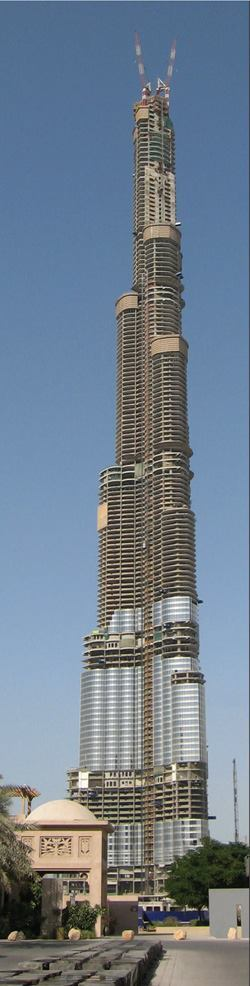 The burj dubai concrete construction magazine high rise for Building materials that start with i