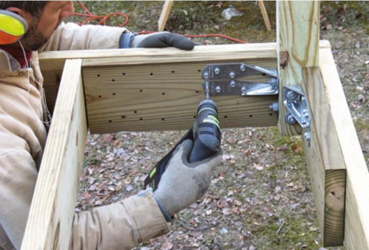 Code-Compliant Guardrail Posts | Professional Deck Builder