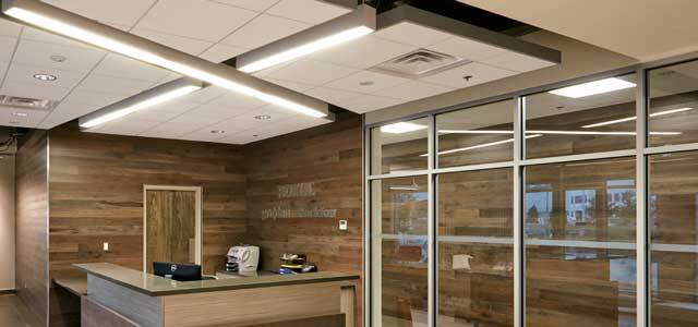A Living Working Showroom Was Created With Full Range Of Ceiling Products Sizes