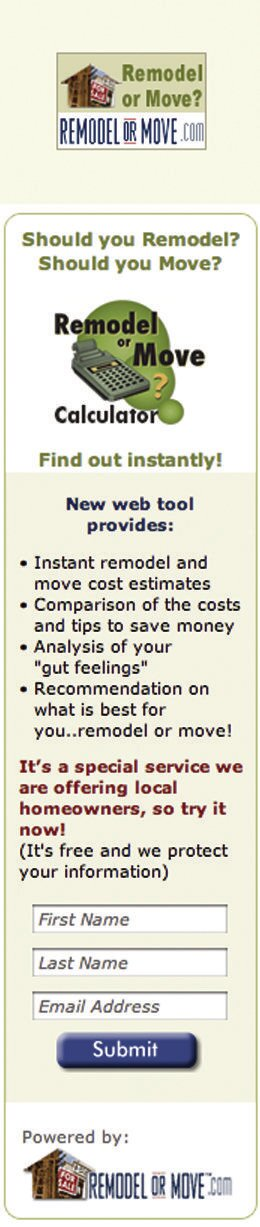 remodel or move calculator remodeling prequalifying leads