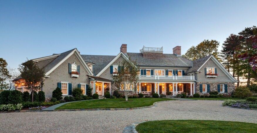 The new england shingle style residence custom home for Modern new england homes