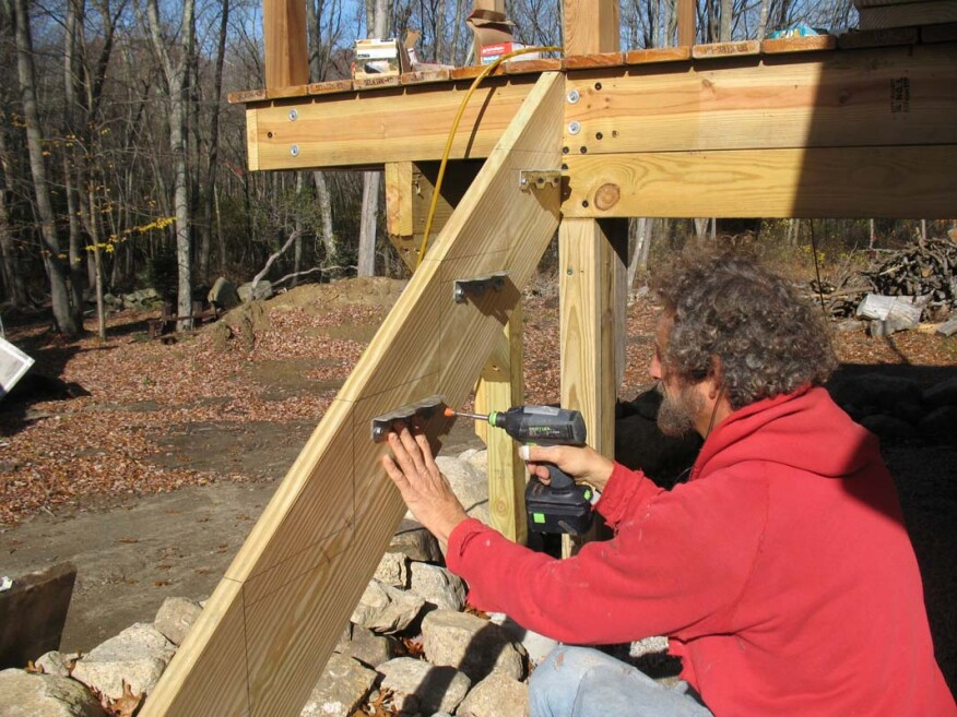 Building Bracketed Deck Stairs Professional Deck Builder