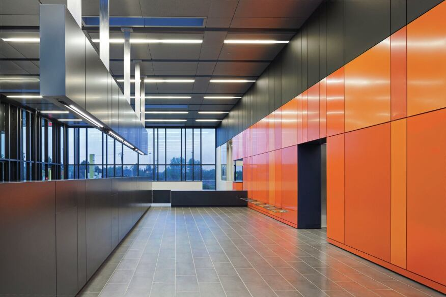 U s land port of entry architect magazine government - Commercial van interiors san diego ...