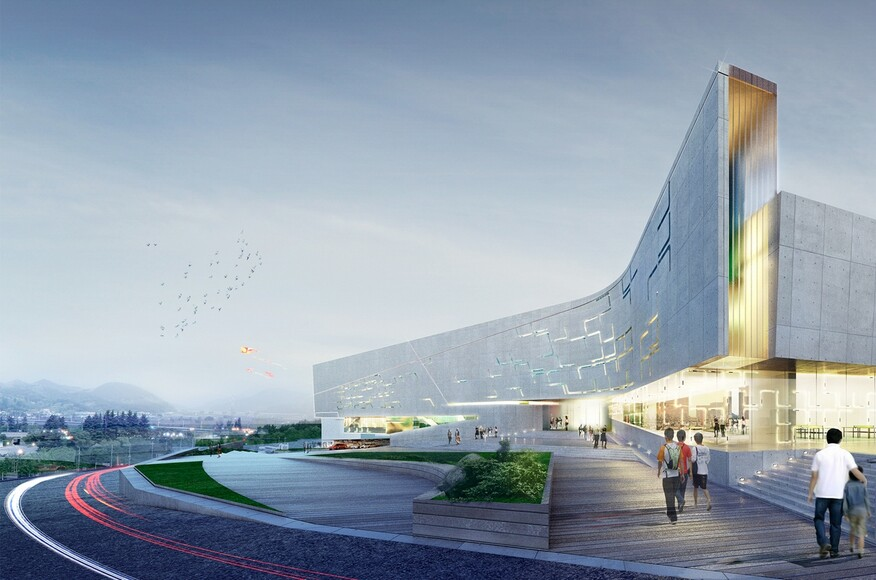 Sports Complex Project For The Daegu Gun Region Daegu