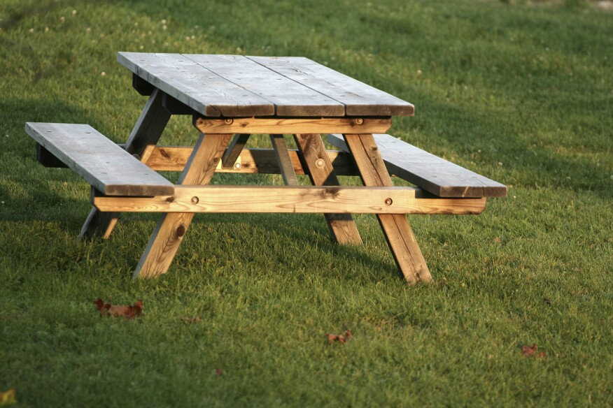 Pressuretreated Lumber Still The Most Popular Product In Backyard - Treated lumber picnic table