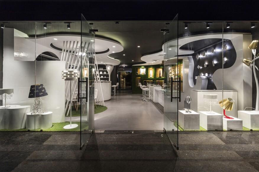 disha electrical and lighting store architect magazine studio