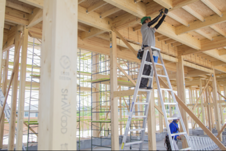 Timber-framing with CLT.