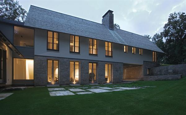Mianus river residence residential architect david - The edgemoor residence by david jameson architect ...