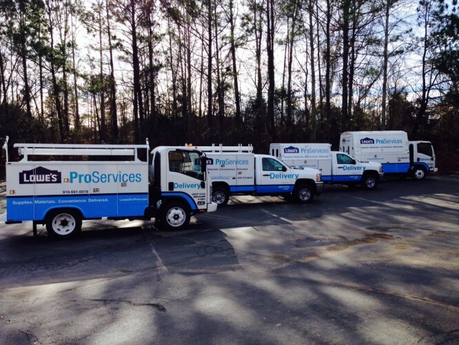Launching Its Proexpress Program To Deliver Building Materials Straight Contractors Who Need Them Since April Trucks Emblazoned With The Company S