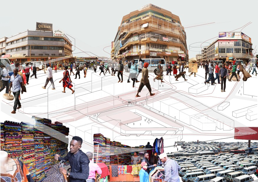 The Kitenge hub is located in downtown Kampala, where space is limited.  In order to maximize profits, owners introduce as much commercial space as possible into their buildings