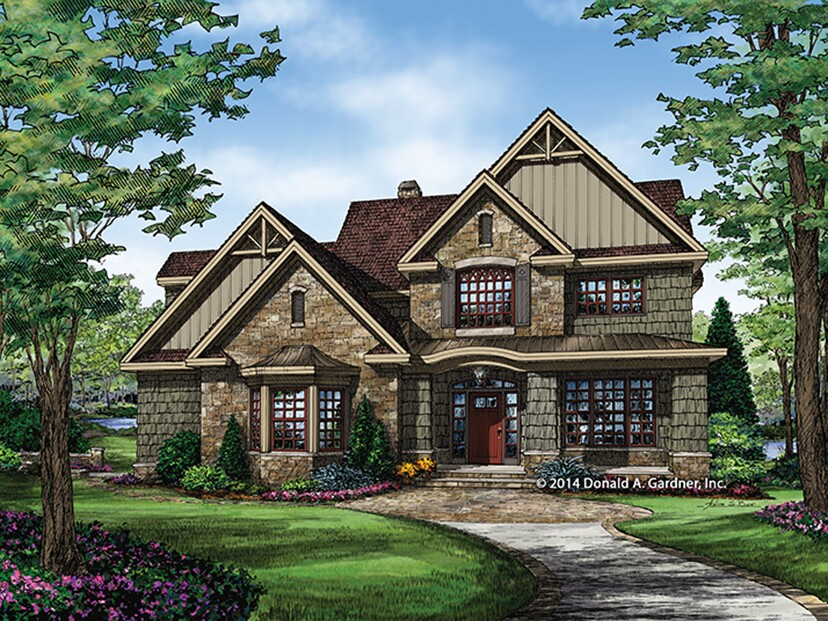 Fourplans donald gardner homes with impressive kitchens for Rutherford house plan