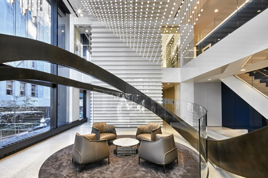 Lukas Lighting Recently Completed The Custom Solutions For Capital One S Park Ave Offices In
