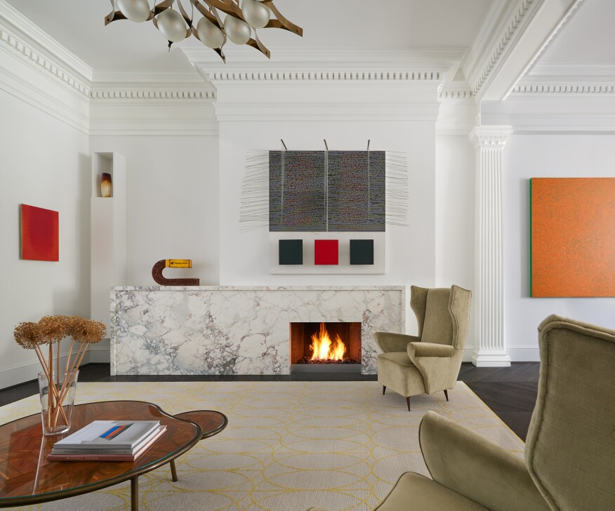 Interior Of Historic D C Rowhouse Transformed Into Modern Haven Builder Magazine