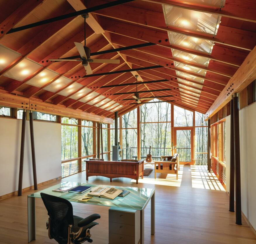 Catskills guest house and artist studio designed by for Jim cutler architect