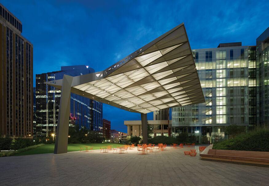 2014 al design awards sandridge commons sandridge energy for Building canopy design