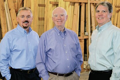 From left, Steve Linn, Chuck Pool, and Robert Pool of Main Street Lumber.