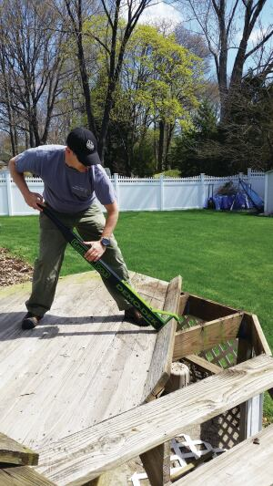 The User Can Stand On Existing Decking When Using Tool Since It Doesn