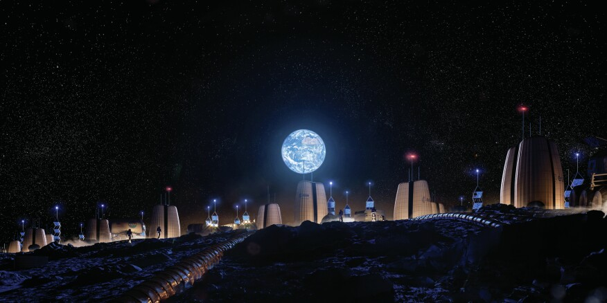 The Moon Village by Skidmore, Owings & Merrill, in partnership with the European Space Agency and MIT.