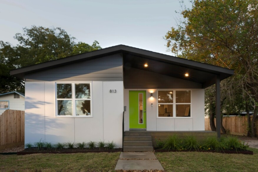 The pilot program house by Avenue and BoxPrefab at 813 McDaniel Street in Houston, Texas was constructed in 90 days, or 50%of the time needed to construct a similar home on-site.