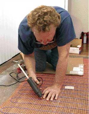 Installing An ElectricRadiant Tile Floor JLC Online Flooring - Best way to heat tile floor