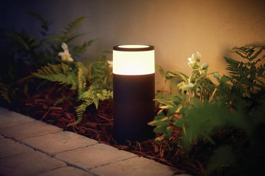 Philips hue takes smart light bulbs outdoors builder magazine philips lighting calla aloadofball Images