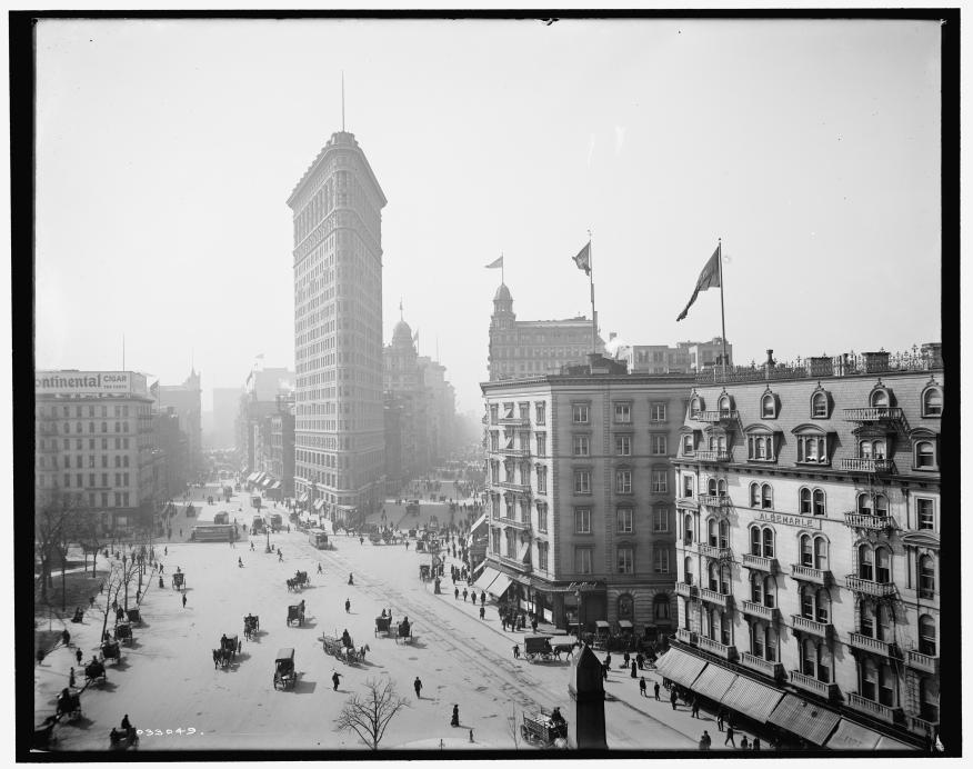 Le Flatiron Building à New York, vers 1902-1910