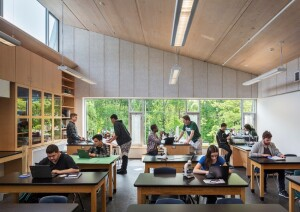"""The students at Common Ground tell me the air feels really fresh, just like being outside. I didn't think that would be the big takeaway. I can only attribute that to the material, wood, quite honestly,"" says Organschi."