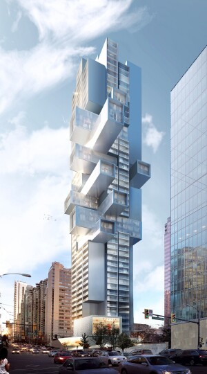 Tower's Mix of Horizontal, Vertical Planes Redefines Urban