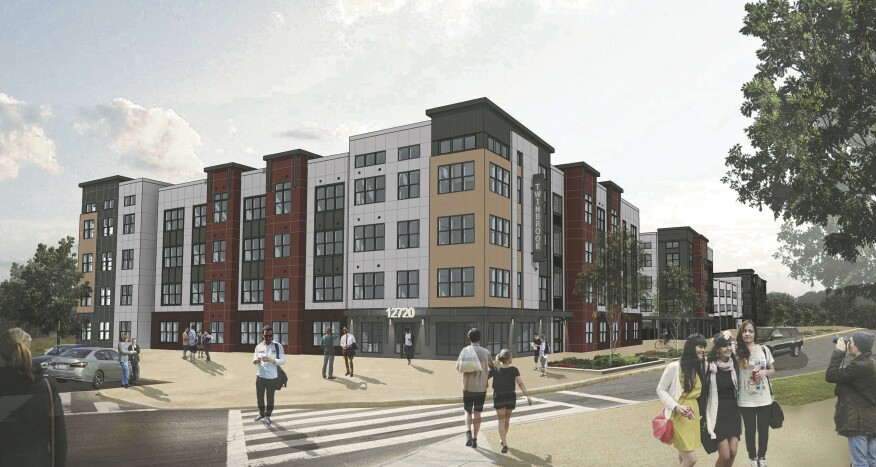 In October, AvalonBay Communities will open 238 new apartments at Kanso Twinbrook in Rockville, Md., near Washington, D.C. Courtesy AvalonBay Communities