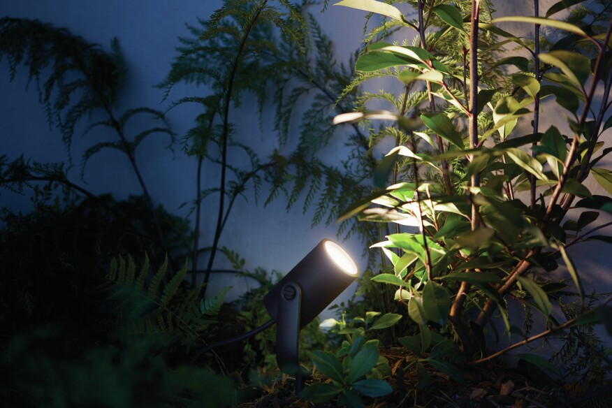 Philips hue takes smart light bulbs outdoors builder magazine philips lighting lily aloadofball Choice Image