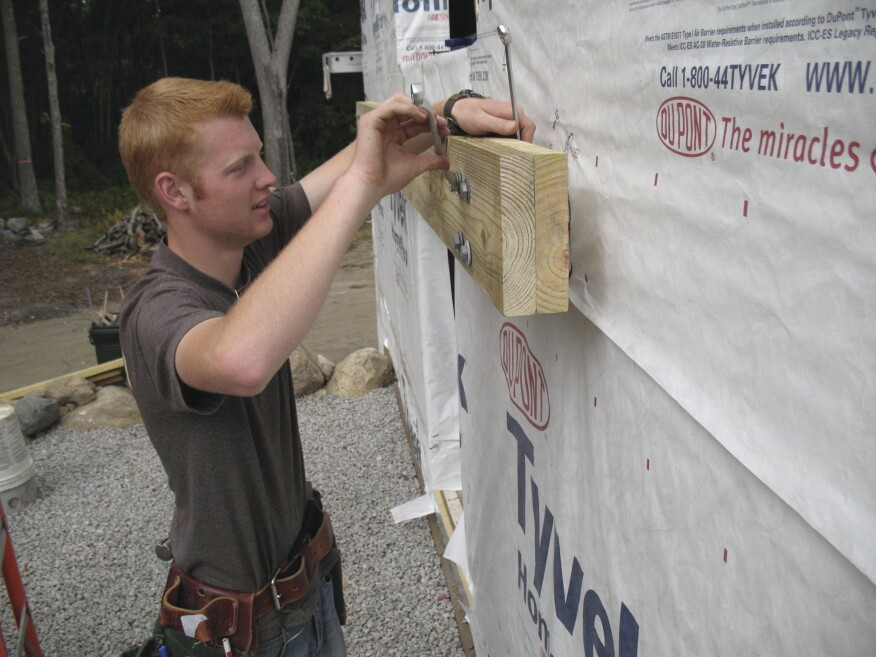 Attaching Ledger Plate : Installing deck ledgers over exterior insulation