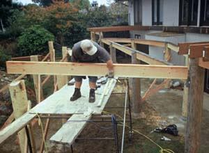 Framing A Deck With Big Timbers Professional Deck
