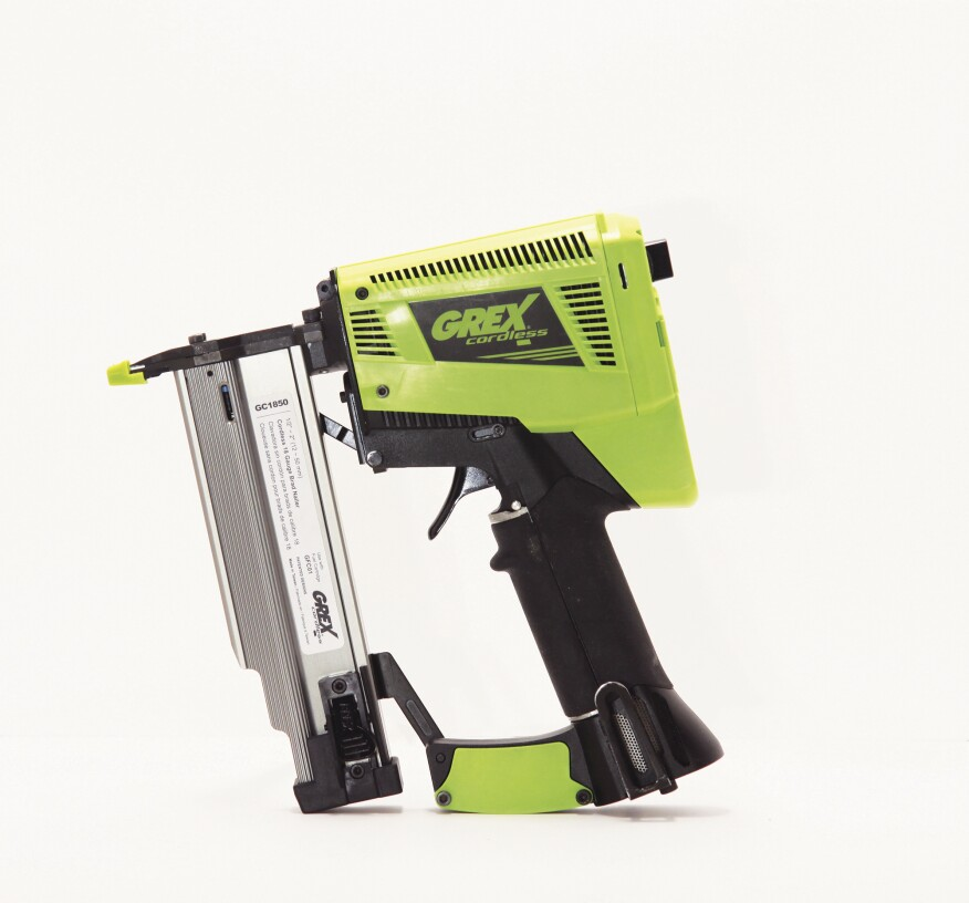 Best Overall: Grex GC1850 Cordless Brad Nailer | Tools of the Trade ...