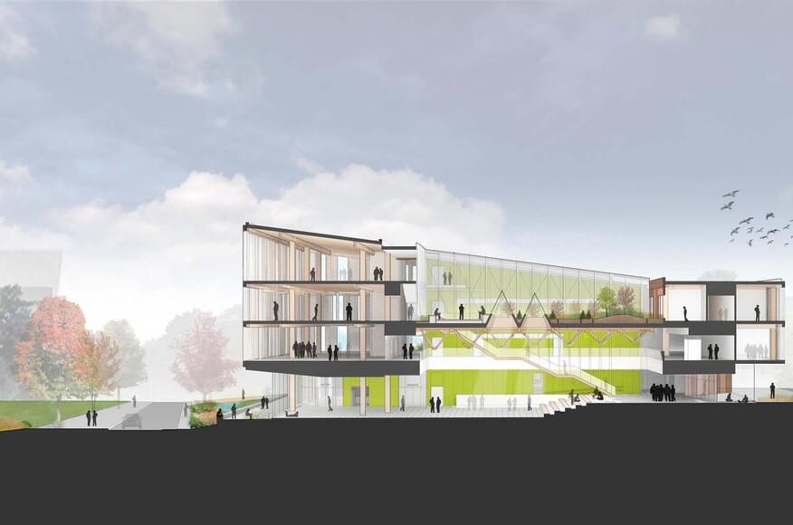 Umass Amherst Design Building Architect Magazine Leers Weinzapfel Associates Amherst Ma