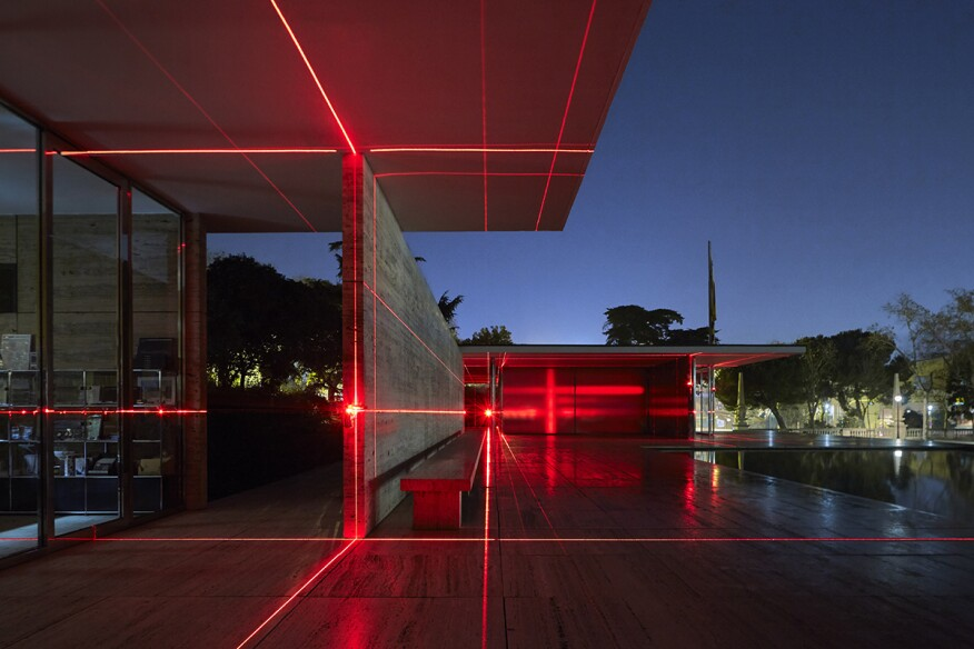 A New Installation Covers Mies van der Rohe's Barcelona