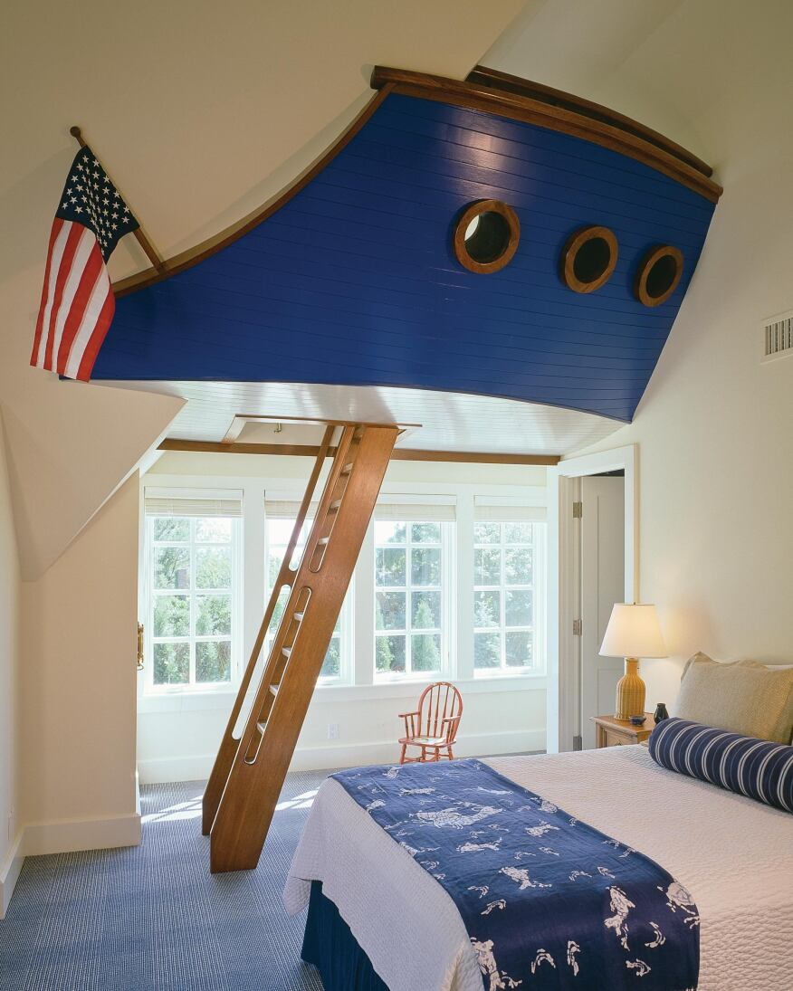 lofty design nautical bedroom ideas. A Nautical Play Sleeping Loft Provides Children With a Well Designed Escape  Custom Home Magazine Detail Homes Single Family Bedroom