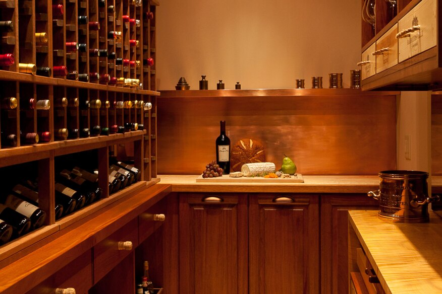 Handsome wine cellar offers more than just wine storage for Cost to build wine cellar