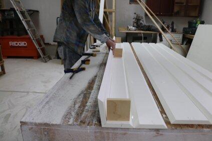 Pvc miter fold post wraps jlc online exteriors - Airstone exterior adhesive alternative ...