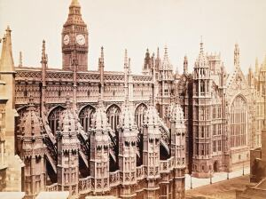 Westminster Henry VII Chapel Exterior And Hall 1865 Stephen Ayling Copyright VA Images