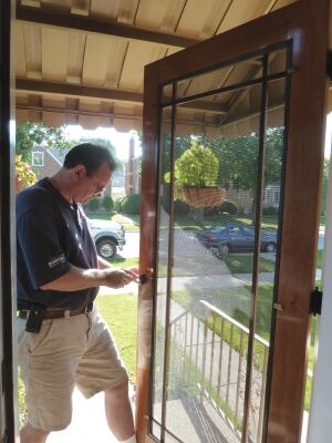 Building a wooden screen door jlc online doors carpentry my company installs aluminum storm doors but we also offer a more traditional alternative fabricating and installing custom storm doors out of planetlyrics Images