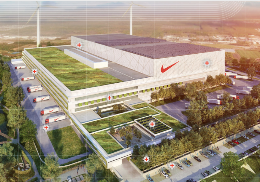 Nike 39 s new distribution center is a sustainable biocycle for Household waste recycling centre design