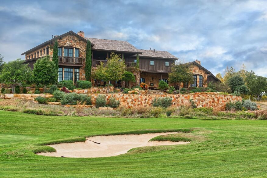 At Boot Ranch in Fredericksburg, Texas, homes are elevated above the course to maintain resident's privacy.