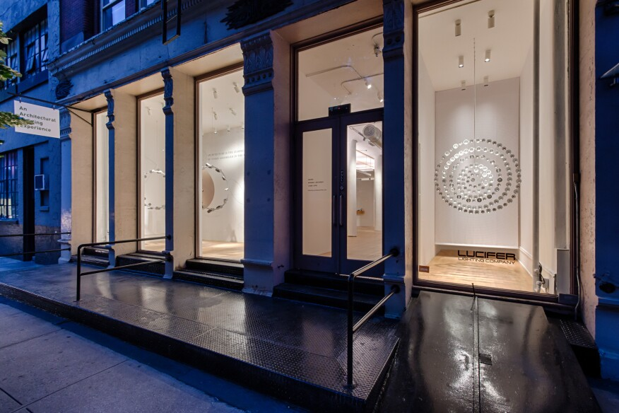 lucifer lighting opens new york city pop up showroom architectural