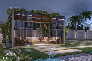 Landscape Design For A Luxury Villa In Dubai Architect Magazine,Simple Landscape Design Front Of House