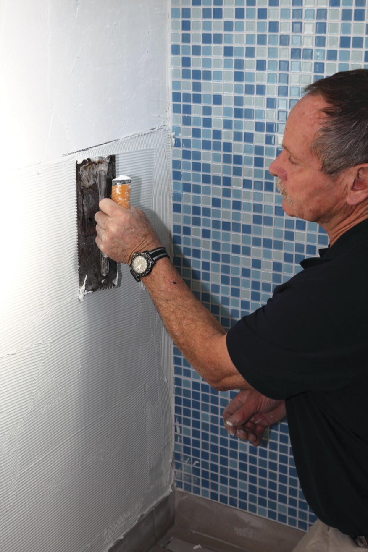 Installing Gl Tile With Mesh Backing Jlc Online