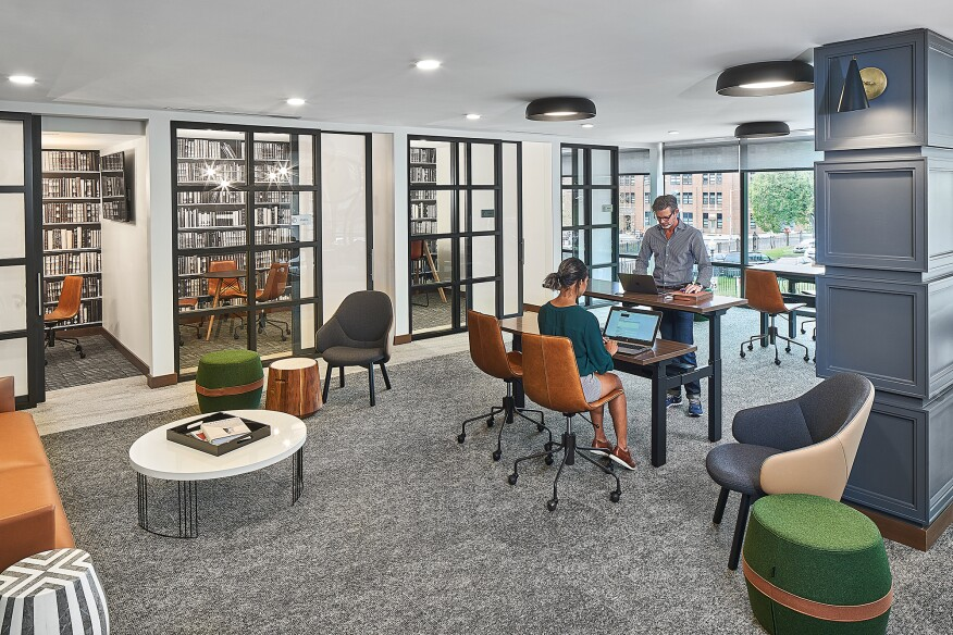Productivity Hub at Trellis House, Washington D.C. Courtesy Bozzutto. Photo: Joel K. Lassiter