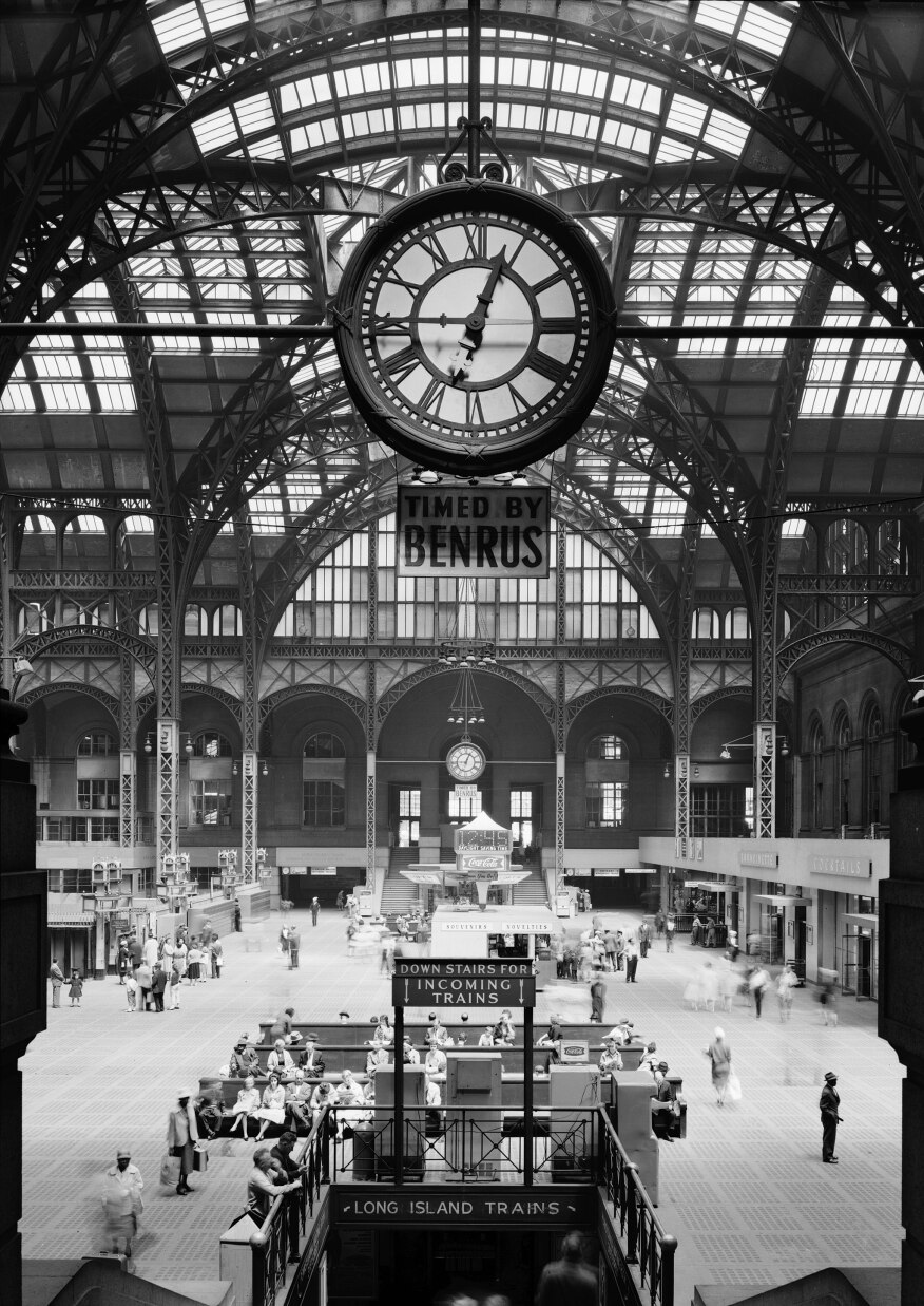 The old Penn Station in 1962, a year before it was demolished