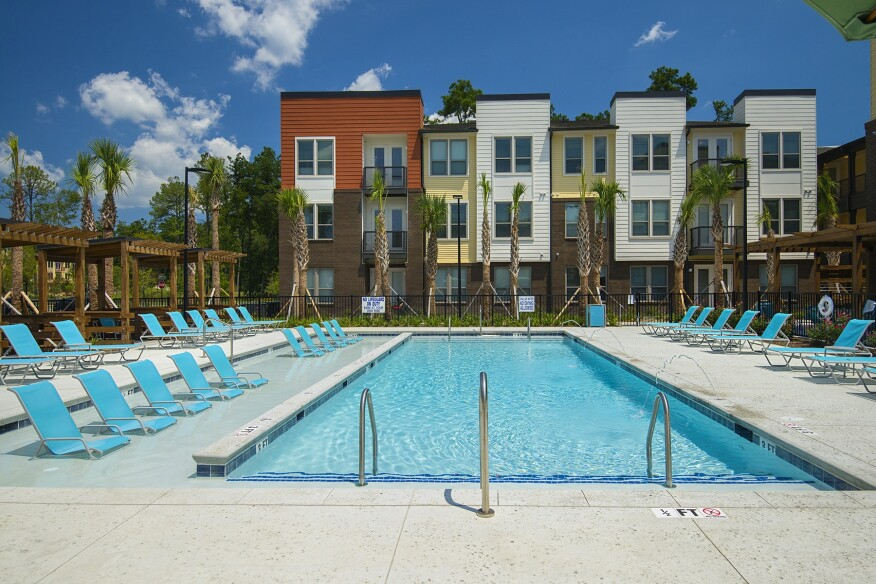 saltwater swimming pool, cabanas, low-rise, master plan, master-planned community, mixed-use, mixed product, Charleston