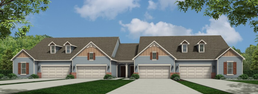 Av homes offers ranch style townhomes in raleigh builder for Master down townhomes