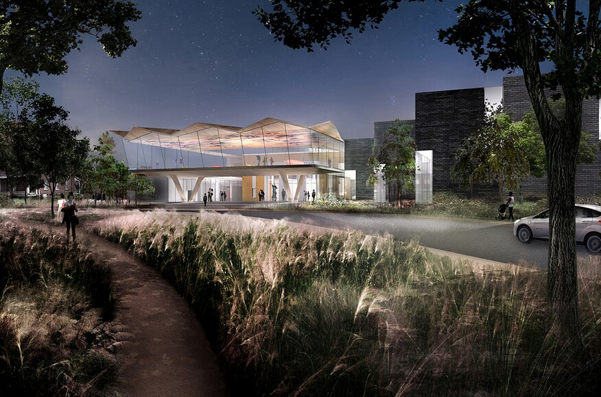 Arkansas Arts Center Architect Magazine Studio Gang Architects Little Rock Ar Cultural